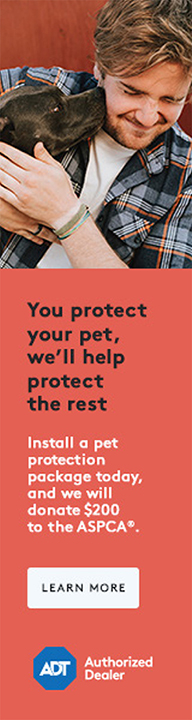 Install a pet protection package today, and we will donate $200 to the ASPCA